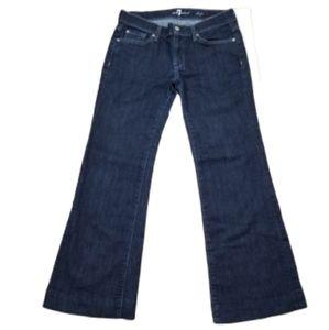 7FAM Dojo Crystal Bling Wide Leg Jeans
